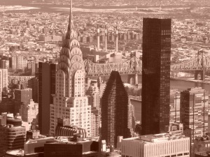 black/white NYC from Empire State Building