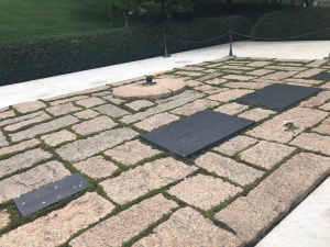 Kennedy family memorial grave site with Eternal Flame, Arlington National Cemetery