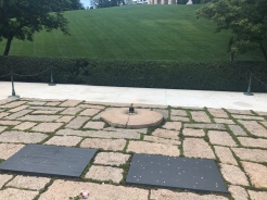 JFK and Jackie O grave site with Eternal Flame, Arlington National Cemetery