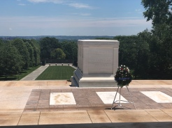 Tomb of the Unknown Soldier overlooking Washington, DC