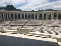 Marble benches in arena of Memorial Ampitheater, Arlington National Cememtery
