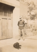 historic family photo soldier Hood Marine