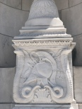 Carved marble designs at Arlington National Cemetery Memorial Ampitheater