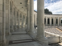 Marble columns surrounding the memorial ampitheater, Arlington National Cemetery