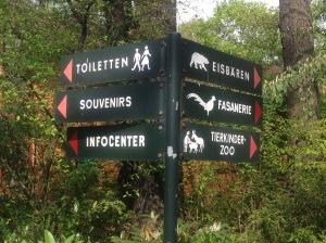 animal sign at Zoo Berlin, Germany