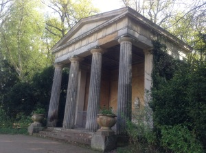 Stone Memorial Temple for Queen Luise of Prussa at Pfaueninsel, Peacock Island, Germany