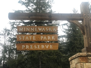 Minnewaska State Park Preserve entrance sign, New York
