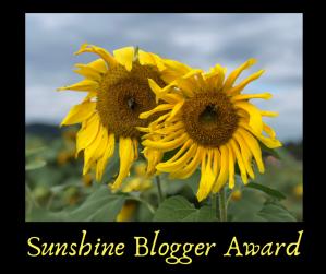 Sunshine Blogger Award Sunflowers