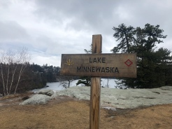 Lake Minnewaska Trail Sign, Preserve, New York