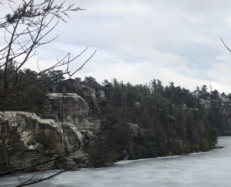 Forest overlook of Lake Minnewaska, New York