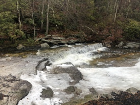 Top of Awosting Falls stream