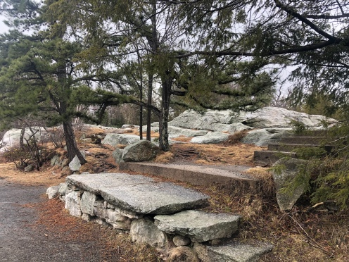 stone steps in Lake Minnewaska State Preserve, New York