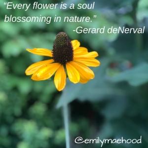 Every flower is a soul, Garard De Nerval