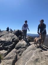 people walking on rocky summit, Grandfather Mountain, North Carolina