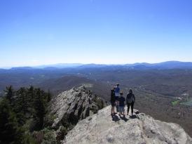 family on rocky summit peak, Grandfather Mountain, North Carolina