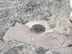 Geodetic Survey on summit peak, Grandfather Mountain, North Carolina