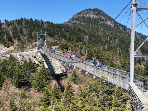 view of Mile High Swinging Bridge from side, North Carolina