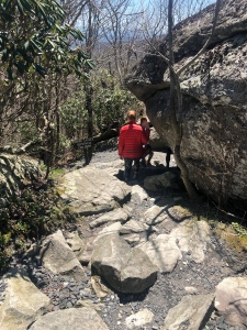 Walking path around Split Rock, Grandfather Mountain, North Carolina