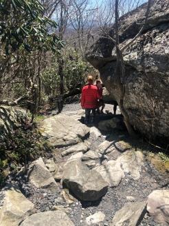 Walking path around Split Rock, Grandfather Mountain, North Carolina
