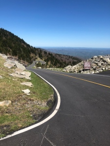 Steep Curvey Road at Grandfather Mountain, North Carolina