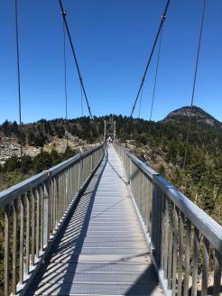 On Mile HIgh Swinging Bridge, Grandfather Mountain, North Carolina