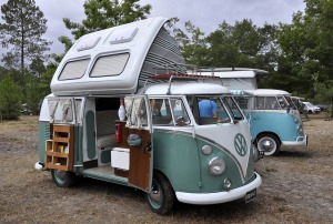 VW classic van, poposky
