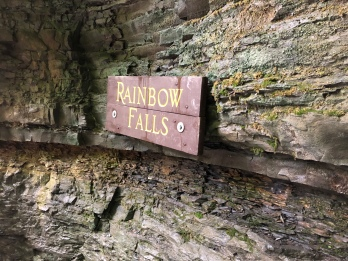Sign for Rainbow Falls at Watkins Glen State Park, New York