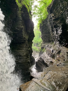 View of the gorge from Cascade Cavern at Watkins Glen State Park, New York