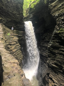 Cavern Cascade Waterfall in the gorge at Watkins Glen State Park, New York