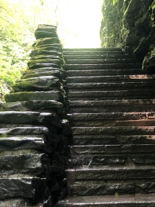 Stone Staircase at Watkins Glen State Park Gorge Trail, New Yoek