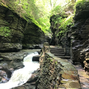 View of the stream from Gorge Trail at Watkins Glen State Park, New York