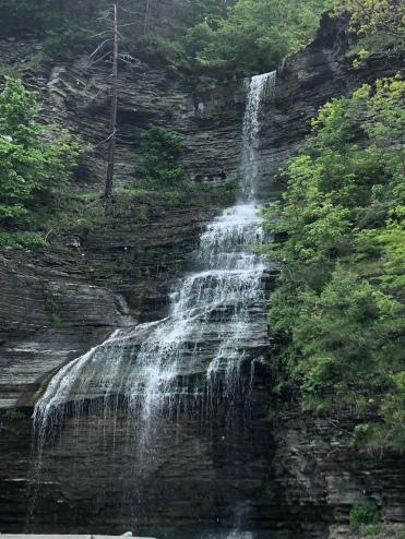 Side view Aunt Sarah's falls, Montour Falls, New York