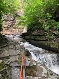 Waterfall trail at Havana Glen Park, New York