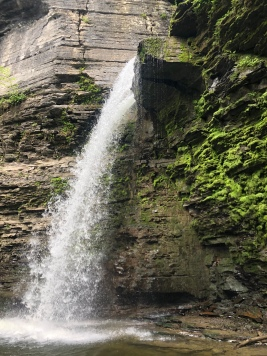 Side view of Eagle Cliff Falls, Havana Glen Park, Montour Falls, New York