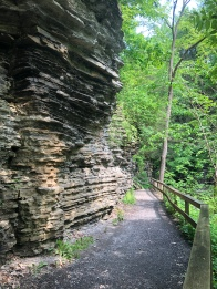 Rocky trail wall, Havana Glen Park, Montour Falls, New York