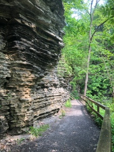 Rocky trail wall, Havana Glen Park, Montour Falls, New York