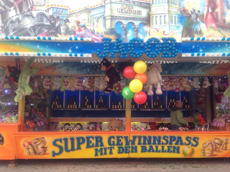 Carnival game at spring festival, Berlin, Germnay