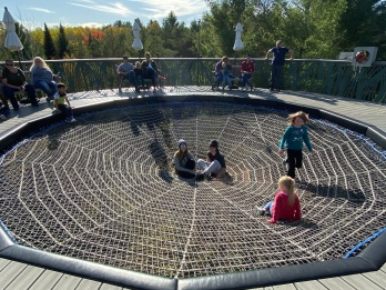 Spider's Web at The Wild Center, Tupper Lake, New York