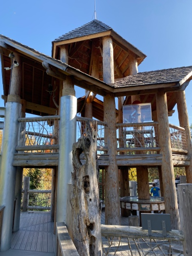 Tree house in the Wild Walk, The Wild Center, Tupper Lake, New York