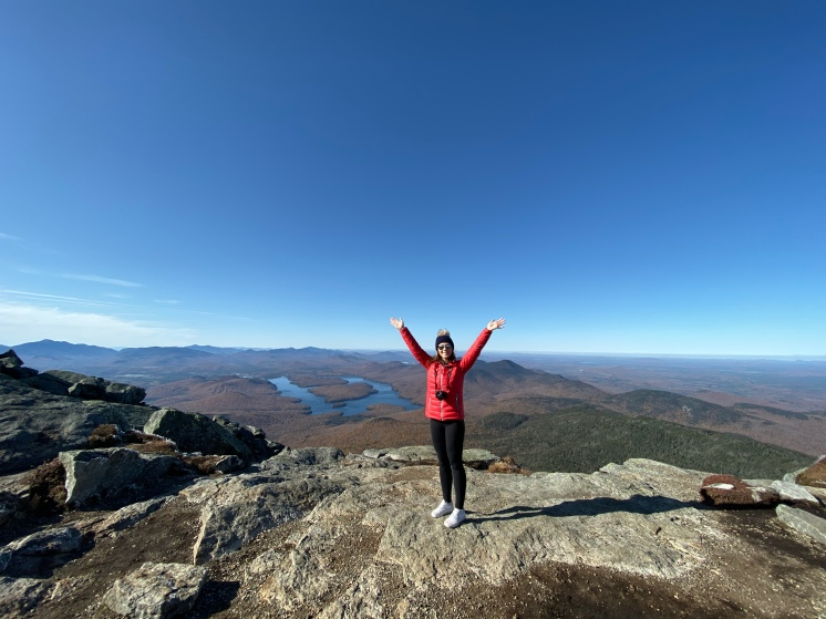 On top of Whiteface Summit, Adirondacks, New York