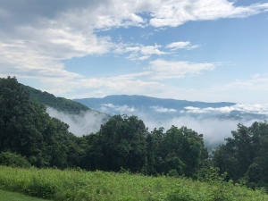 Shenandoah National Park Low lying clouds in Blue Ridge Mountains