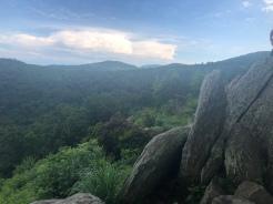 Hazel Mountain Overlook on Skyline Drive, Blue Ridge Mountains, Shenandoah National Park, VA
