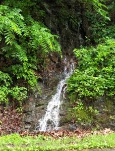 Small waterfall roadside on Skyline drive, Shenandoah National park