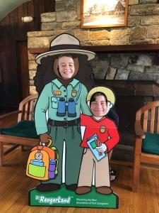 Siblings as rangers, Dickey ridge Visitor Center, Shenandoah National Park