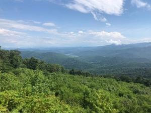 View of Blur Ridge Mountains from Skyline Drive, Shenandoah National park, VA